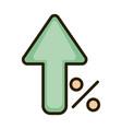 growing arrow percent money business financial vector image vector image