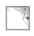halloween geometric frame vector image vector image