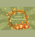 happy thanksgiving cards orange vector image vector image
