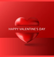 happy valentines day text greeting card blank vector image vector image