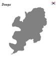 high quality map metropolitan city of south korea vector image vector image