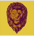 hipster lion head vector image vector image