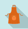 housewife apron icon flat style vector image