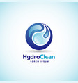 hydro clean logo sign symbol icon vector image vector image