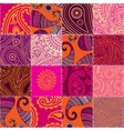 Imitation of quilting design in indian style with vector image vector image