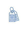labels line icon concept labels flat vector image vector image