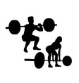lifter silhouettes activity vector image vector image