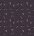 line art zodiac symbols in simple vector image vector image
