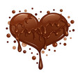 liquid chocolate heart vector image