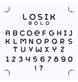 Losik Bold font vector image vector image
