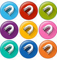 Magnet icons vector image vector image