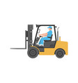 man driving a forklift vector image vector image