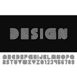 modern stylized striped font - minimalistic vector image vector image