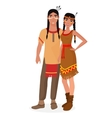 Native American Indian family American Indians vector image vector image