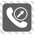 Outgoing Call Rounded Square Button vector image vector image