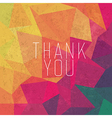retro thank you card vector image vector image