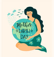 save nature mother earth day template vector image