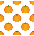 seamless pattern of orange pumpkin vector image vector image