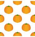 seamless pattern of orange pumpkin vector image vector image