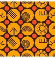 Seamless texture with Australian aboriginal art vector image