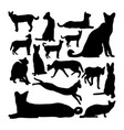 serval cat animal silhouettes vector image vector image