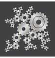 set of cogs gears vector image vector image