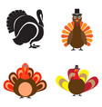 set of turkey icons vector image