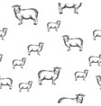 sheep animal seamless pattern sketch vector image