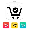 Shopping cart check icon vector image vector image