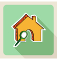 Sketch style real estate search concept vector image