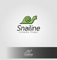 snail line is an animal logo with line art style vector image vector image