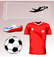 Soccer Elements vector image vector image