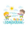 songkran water festival vector image vector image