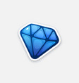 sticker blue diamond vector image vector image