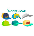 summer cap set man woman headwear sport vector image