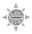 sun icon black vector image vector image