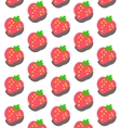 Sweet Strawberry Pattern vector image vector image