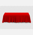 table with tablecloth red vector image
