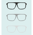 Teacher glasses black and grey on blue background vector image vector image