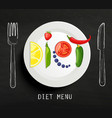 the concept of diet vector image vector image