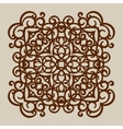 The template for laser cutting decorative panel vector image vector image