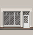 traditional shop facade vector image