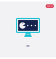 two color pc icon from arcade concept isolated vector image vector image