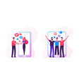 web dating concept with people meeting in internet vector image vector image