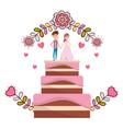 Wedding floral decoration cartoon