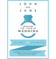 Wedding invitation blue ring theme vector image vector image