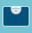 weigh scales model isolated on blue background vector image
