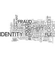 what do you do if your identity s been stolen vector image vector image
