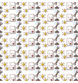 wrench tool pattern background vector image vector image