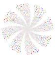 yacht fireworks swirl rotation vector image vector image